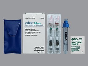 Edex 20 mcg intracavernosal kit
