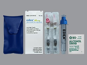 Edex 40 mcg intracavernosal kit