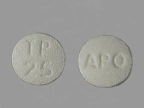 topiramate 25 mg tablet