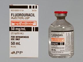 fluorouracil 2.5 gram/50 mL intravenous solution