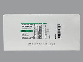 dacarbazine 100 mg intravenous solution