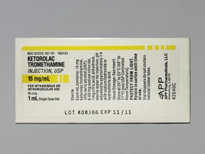 ketorolac 15 mg/mL injection solution