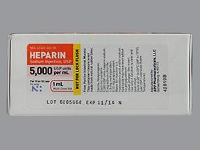 heparin (porcine) 5,000 unit/mL injection solution