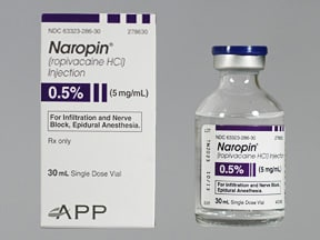 Naropin (PF) 5 mg/mL (0.5 %) injection solution