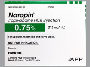 Naropin (PF) 7.5 mg/mL (0.75 %) injection solution