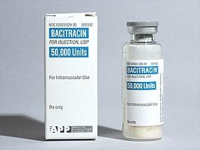 bacitracin 50,000 unit intramuscular solution