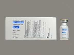 ceftriaxone 1 gram solution for injection