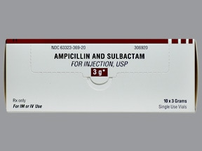 ampicillin-sulbactam 3 gram solution for injection