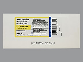 neostigmine methylsulfate 0.5 mg/mL intravenous solution