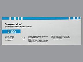 Sensorcaine 0.25 % (2.5 mg/mL) injection solution
