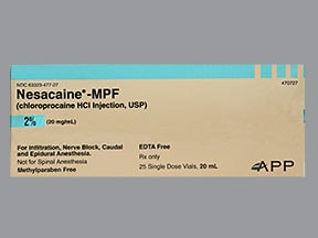 Nesacaine-MPF 20 mg/mL (2 %) injection solution