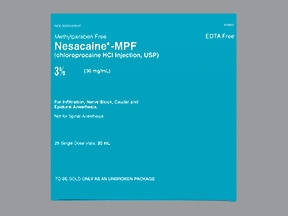Nesacaine-MPF 30 mg/mL (3 %) injection solution
