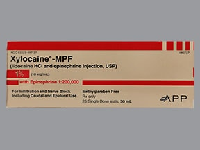 Xylocaine-MPF/Epinephrine 1 %-1:200,000 injection solution