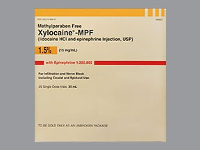 Xylocaine-MPF/Epinephrine 1.5 %-1:200,000 injection solution