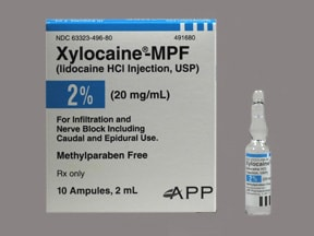 Xylocaine-MPF 20 mg/mL (2 %) injection solution