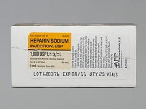 heparin (porcine) 1,000 unit/mL injection solution