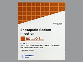enoxaparin 80 mg/0.8 mL subcutaneous syringe