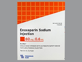 enoxaparin 60 mg/0.6 mL subcutaneous syringe