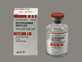 deferoxamine 2 gram solution for injection