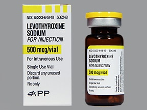 levothyroxine 500 mcg intravenous powder for solution