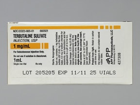 terbutaline 1 mg/mL subcutaneous solution