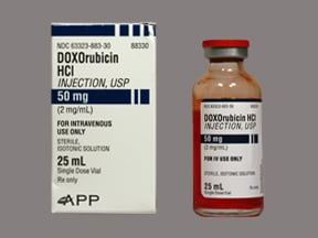 doxorubicin 50 mg/25 mL intravenous solution