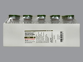 sodium chloride 0.9 %, bacteriostatic injection solution