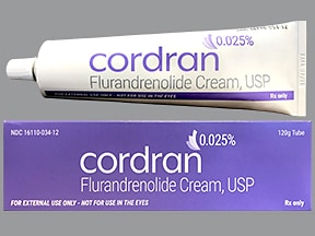 Cordran 0.025 % topical cream