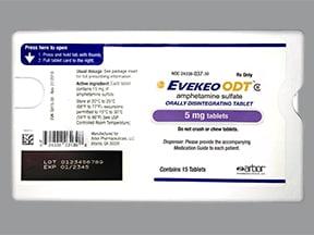 Evekeo ODT 5 mg disintegrating tablet