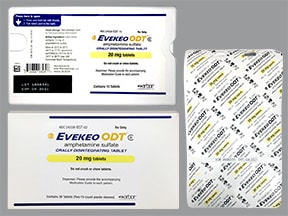 Evekeo ODT 20 mg disintegrating tablet