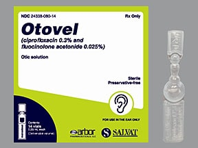 Otovel 0.3 %-0.025 % (0.25 mL) ear solution