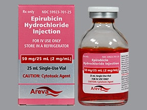 epirubicin 50 mg/25 mL intravenous solution