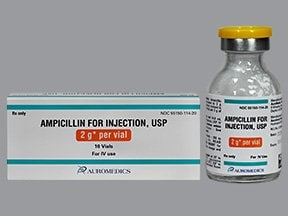 ampicillin 2 gram solution for injection