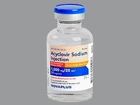 acyclovir sodium 50 mg/mL intravenous solution