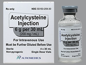 acetylcysteine 200 mg/mL (20 %) intravenous solution
