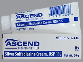 silver sulfadiazine 1 % topical cream