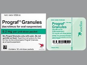 Prograf 0.2 mg oral granules in packet