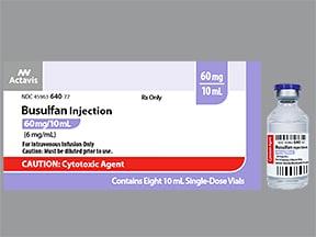 busulfan 60 mg/10 mL intravenous solution