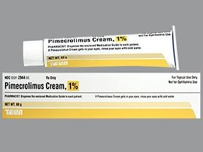 pimecrolimus 1 % topical cream