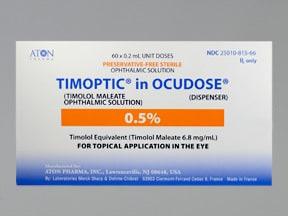 Timoptic Ocudose (PF) 0.5 % eye drops in a dropperette