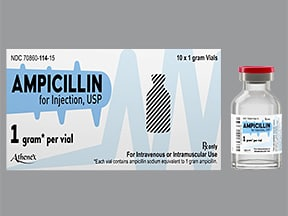 ampicillin 1 gram solution for injection