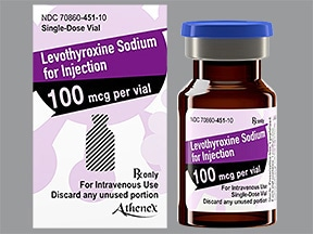 levothyroxine 100 mcg intravenous powder for solution