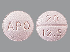 benazepril 20 mg-hydrochlorothiazide 12.5 mg tablet