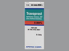 travoprost 0.004 % eye drops