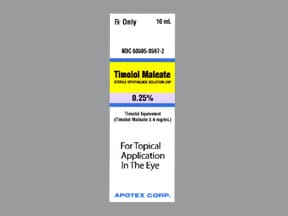 timolol maleate 0.25 % eye drops