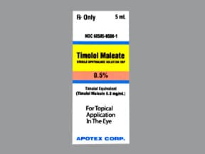 timolol maleate 0.5 % eye drops