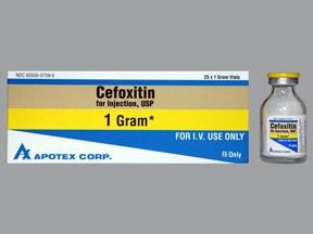cefoxitin 1 gram intravenous solution