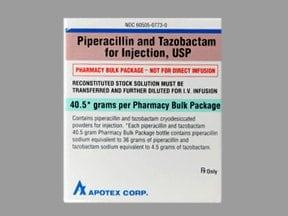 piperacillin-tazobactam 40.5 gram intravenous solution