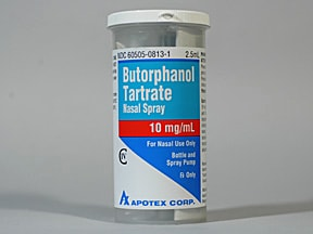 butorphanol tartrate 10 mg/mL nasal spray