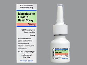 mometasone 50 mcg/actuation nasal spray